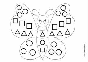 Papillon Coloriage Gommettes Chez Veronalice
